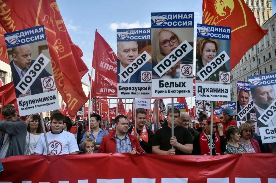 Rusai įtūžę: nenori pensinio amžiaus didinimo