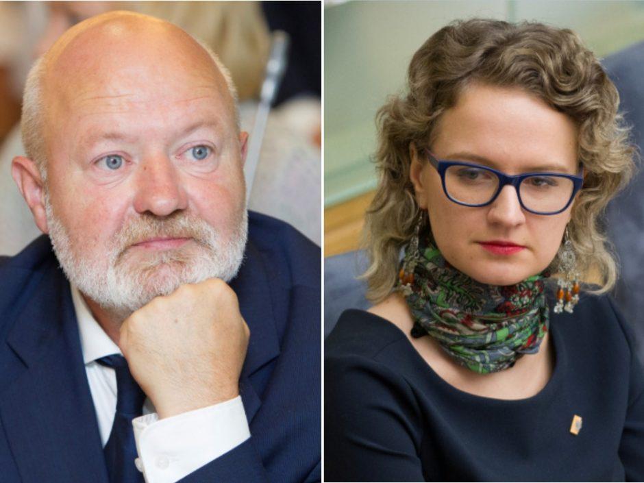 Liberalai rinko frakcijos seniūną: A. Armonaitė pralaimėjo E. Gentvilui