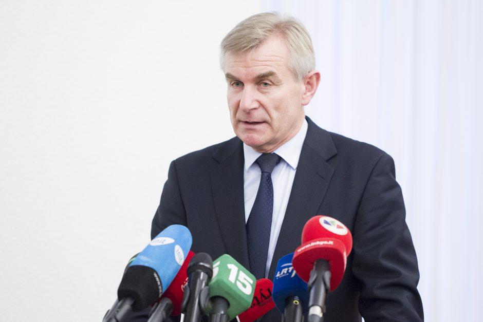 Seimo pirmininkas: urėdijų pertvarkai politinės valios užteks