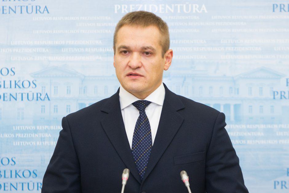 VRM kancleriu E. Misiūnas skiria savo atstovą spaudai