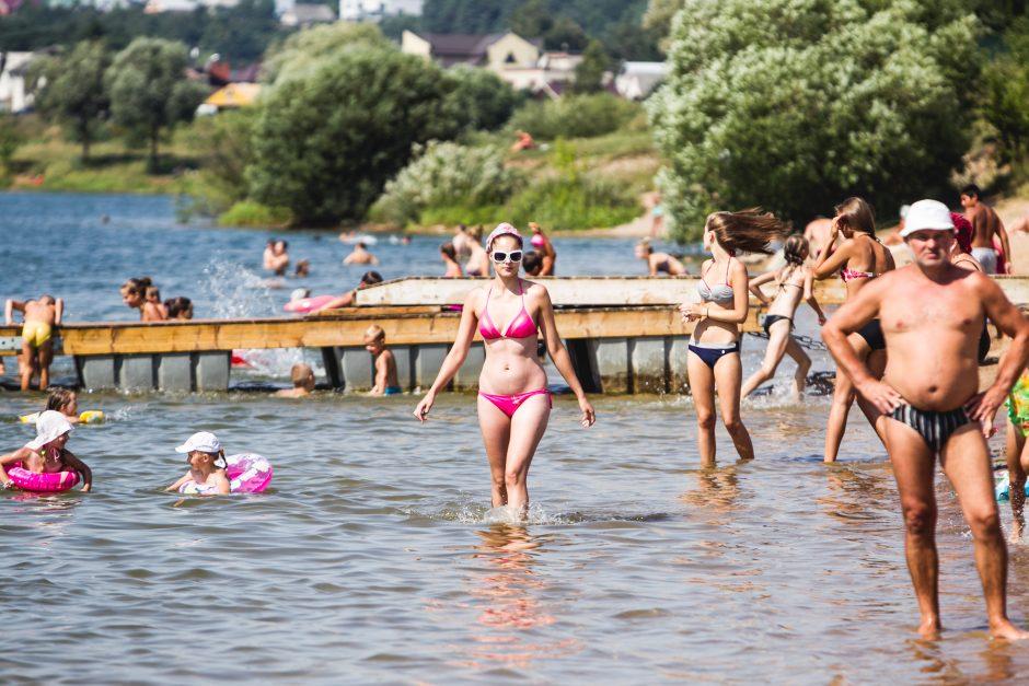 Specialistė: Kauno paplūdimiuose galima drąsiai maudytis