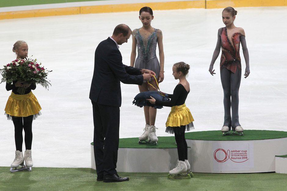 """Čiuožėja P. Ramanauskaitė """"Amber Cup"""" varžybose užėmė devintąją vietą"""