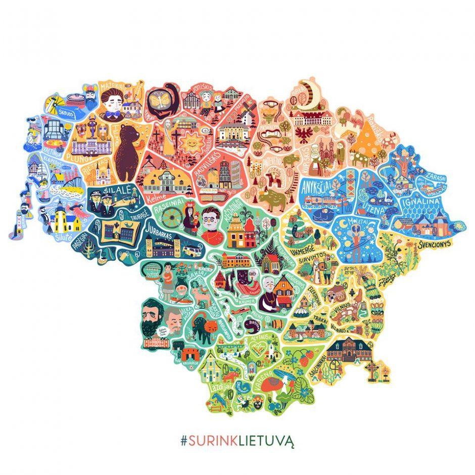 """Projektas """"Surink Lietuvą"""" stebina populiarumu"""