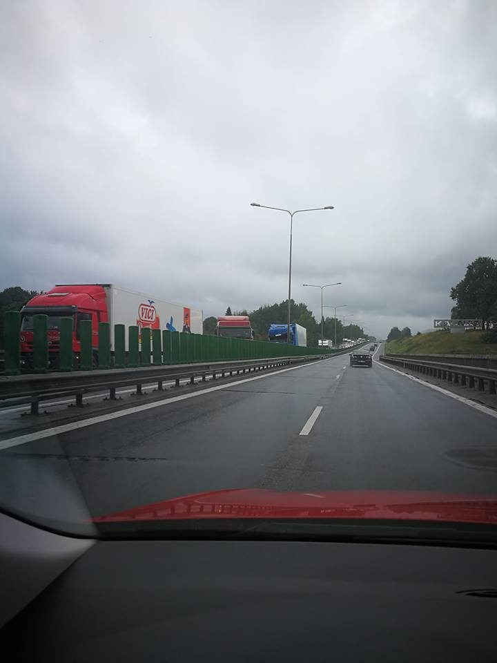 Netoli Kauno – dviejų krovininių automobilių avarija