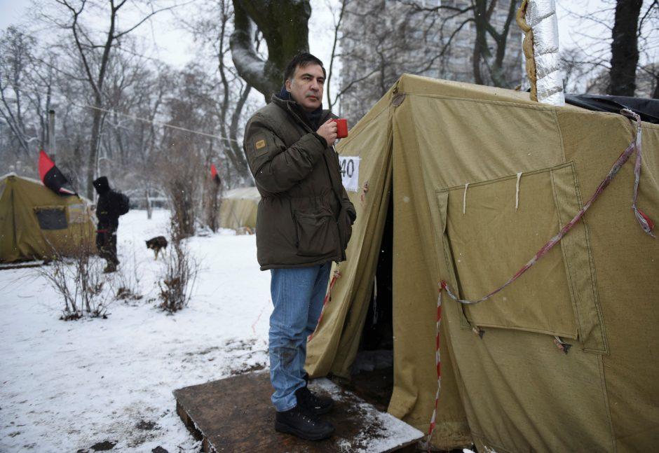 M. Saakašvilio karjera – nuo aukštosios politikos iki bandymo nušokti nuo stogo