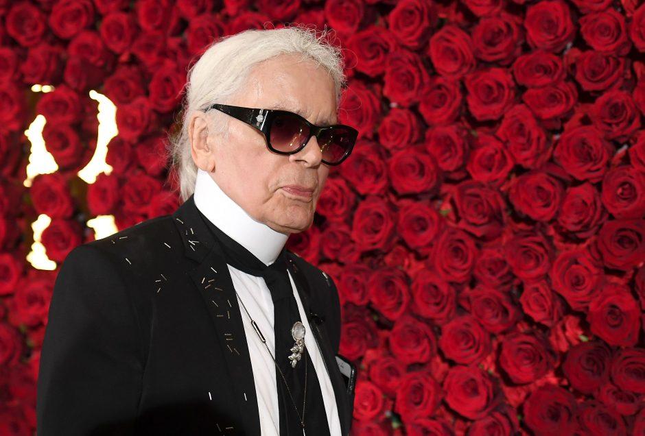 Kremuoti mados pasaulio superžvaigždės K. Lagerfeldo palaikai