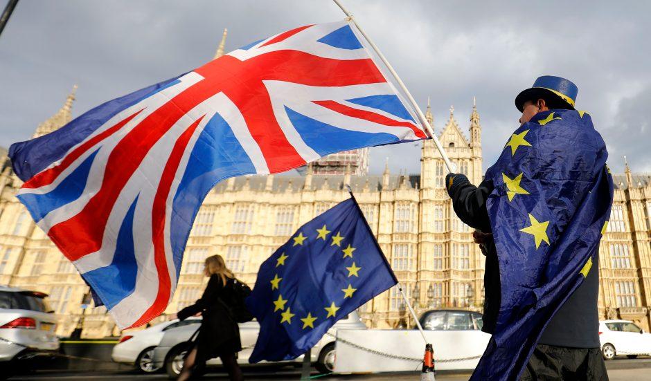 """Įsigaliojo """"Brexit"""" įstatymas, kuriuo Jungtinei Karalystei leidžiama išstoti iš ES"""