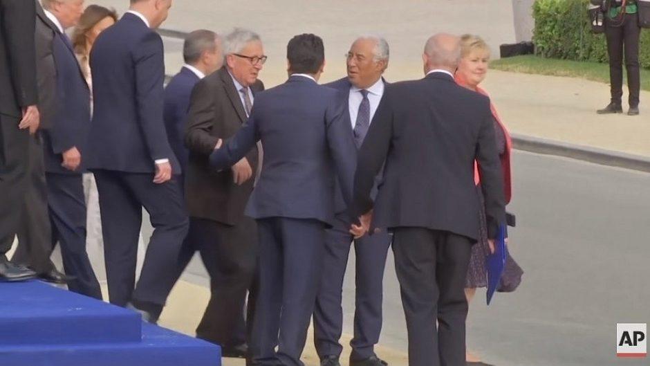 Europos Komisijos pirmininkas NATO viršūnių susitikime patyrė priepuolį