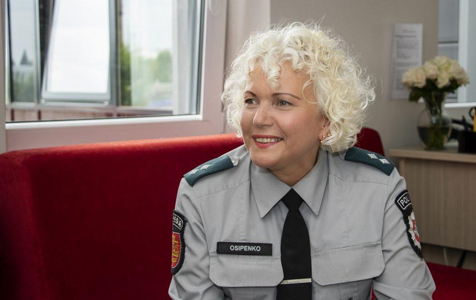 Atsidavimas: pareigūnė Klaipėdos policijoje dirba jau 38 metus