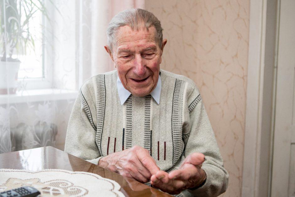 101-ųjų Kalėdų sulaukęs kaunietis: nesinervinkite ir ant nieko nepykite