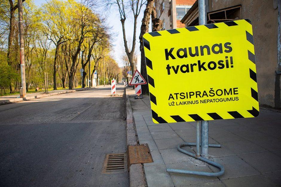 Kaunas ir toliau tvarkosi: kokie darbai planuojami šią savaitę?