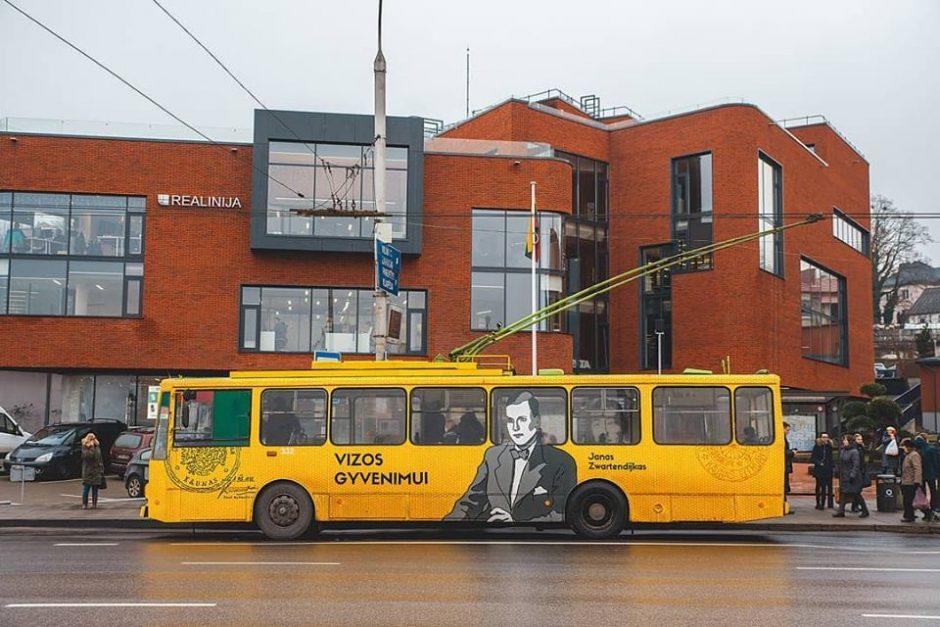 Kaune ant troleibuso – dviejų istorinių asmenybių portretai