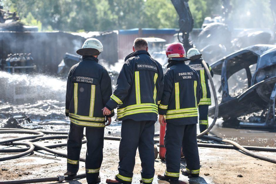 Radviliškyje supleškėjo ūkinis pastatas, įtariamas padegimas