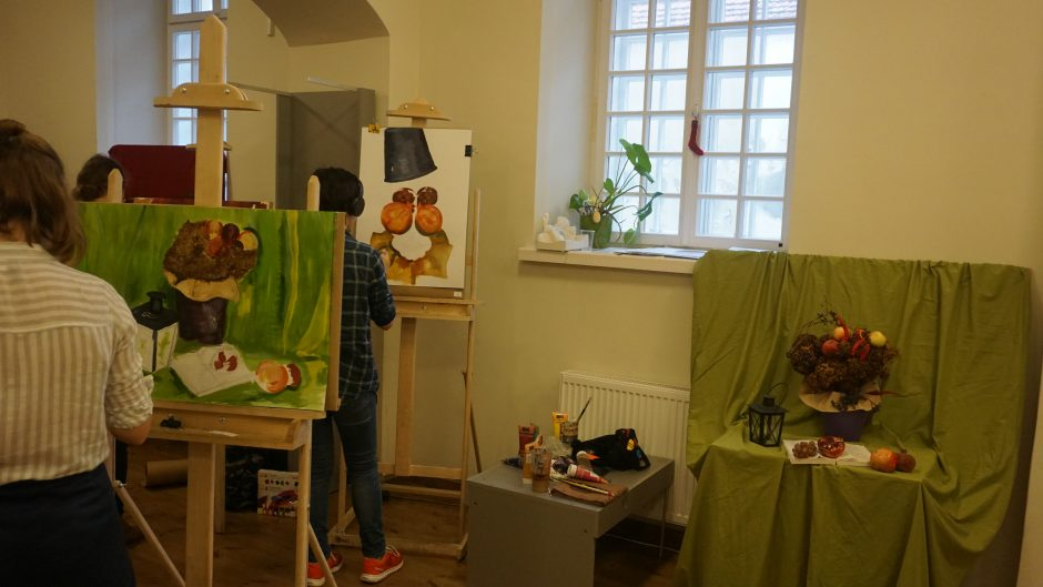 Kaip jaunieji menininkai tapė rudenį