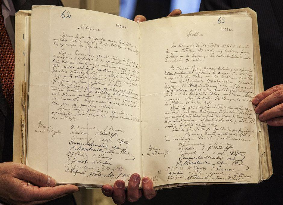 Vokietija Vasario 16-osios aktą gali paskolinti metams, bet neatiduoti