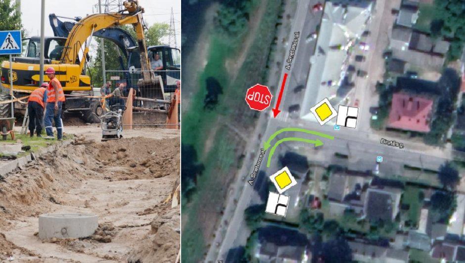 Dėmesio: dėl remonto darbų A. Smetonos alėjoje keičiasi eismo tvarka