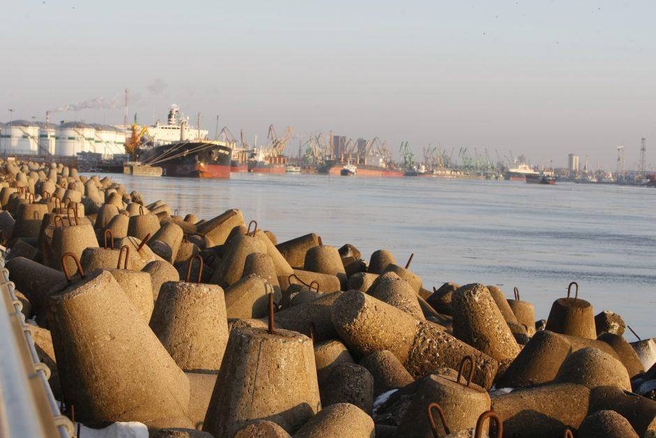 Prie 143-osios Klaipėdos uosto krantinės pagaliau švartuojasi laivai
