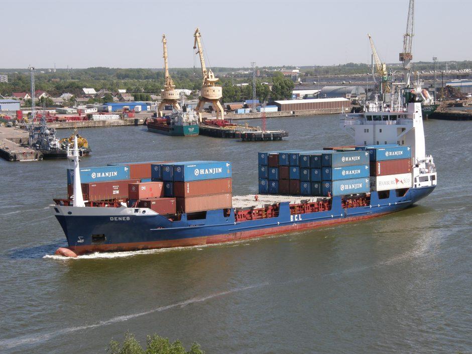 Kliūtys konteineriams Klaipėdos uoste – maži gyliai