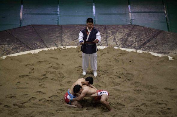 Korėjos drauge siekia tradicinių imtynių įtraukimo į UNESCO sąrašą