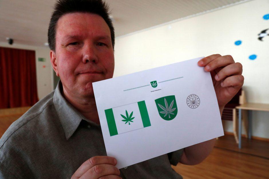 Estijos savivaldybės emblema tapo kanapės lapas