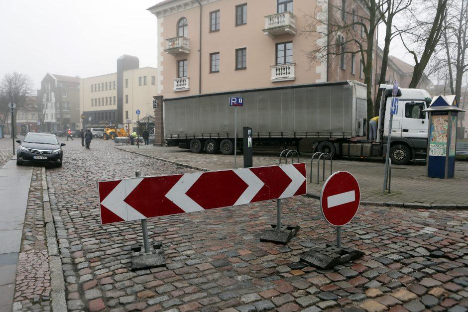 Šviesų festivalio metu bus apribotas eismas Klaipėdos senamiestyje