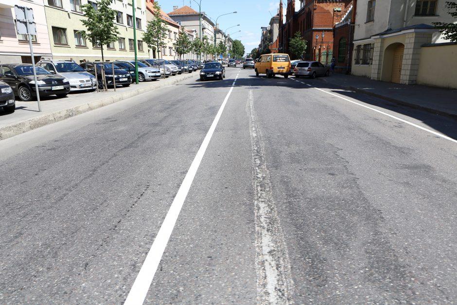 Pinigai Klaipėdos gatvėms ženklinti ištirpo