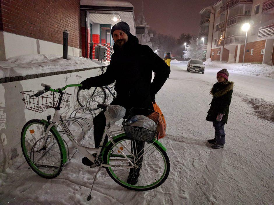 Per šalčius – dviračiu