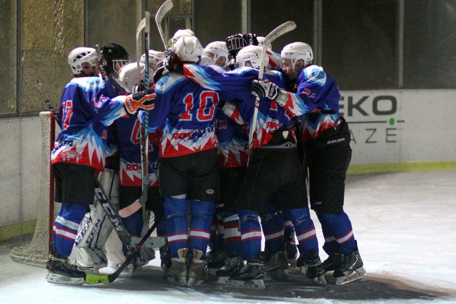 """""""Hockey Punks"""" ir """"Rokiškio"""" akistatoje prireiks lemiamų rungtynių"""