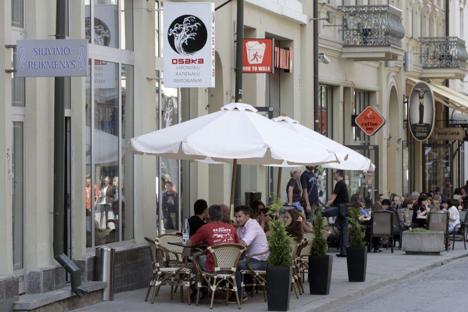 Kai kurios Vilniaus lauko kavinės laikysis iki lapkričio