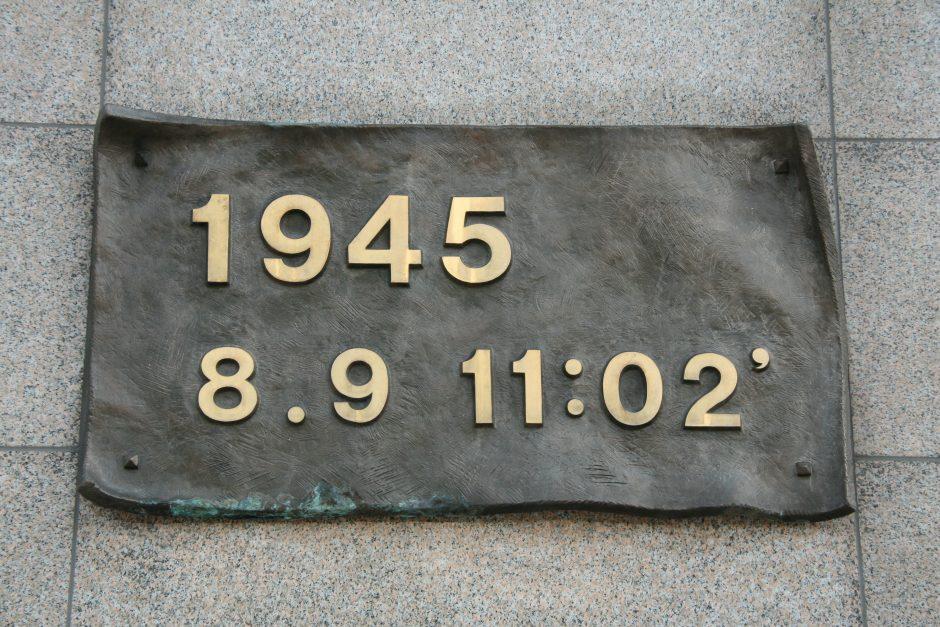 Nagasakyje minimos 68-osios JAV įvykdyto atominio bombardavimo metinės