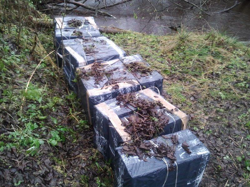 Iš Baltarusijos permestos kontrabandinės cigaretės atsidūrė pasieniečių saugykloje