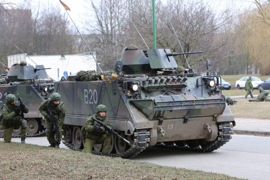 Kaune treniruosis tūkstantis NATO karių