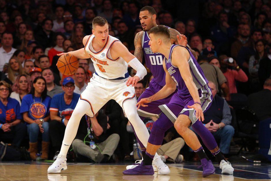 """K. Porzingis vedė """"Knicks"""" į pergalę, M. Kuzminskas nežaidė"""
