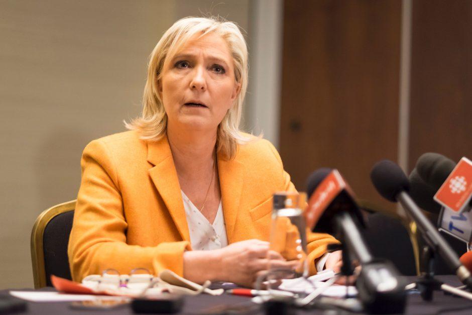 M. Le Pen pergalė Prancūzijos prezidento rinkimuose sukeltų didžiulę suirutę