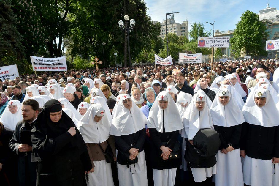 Rusijos Ortodoksų Bažnyčia perspėja dėl protestų Ukrainoje