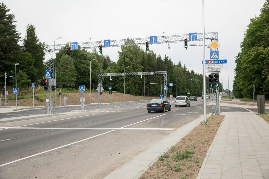 Vilniuje nutiesta trijų eismo juostų Santaros gatvė