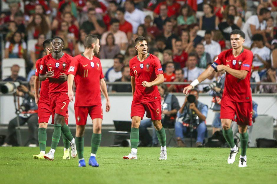 Portugalijos futbolininkai be C. Ronaldo nugalėjo italus