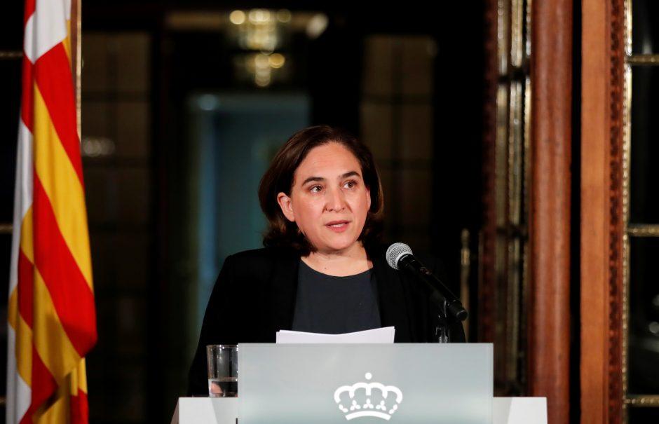 Barselonos merė pasisako prieš galimą Katalonijos nepriklausomybės skelbimą