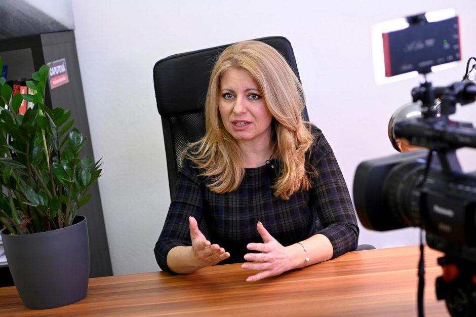 Slovakija savaitgalį gali išrinkti pirmąją prezidentę moterį