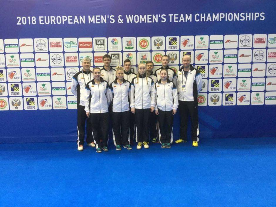 Lietuvos badmintono rinktinės Europos čempionate lieka be pergalių