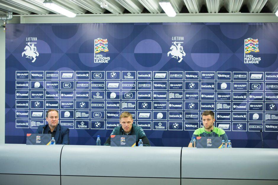 Lietuvos futbolo rinktinė pasirengusi pateikti serbams staigmenų