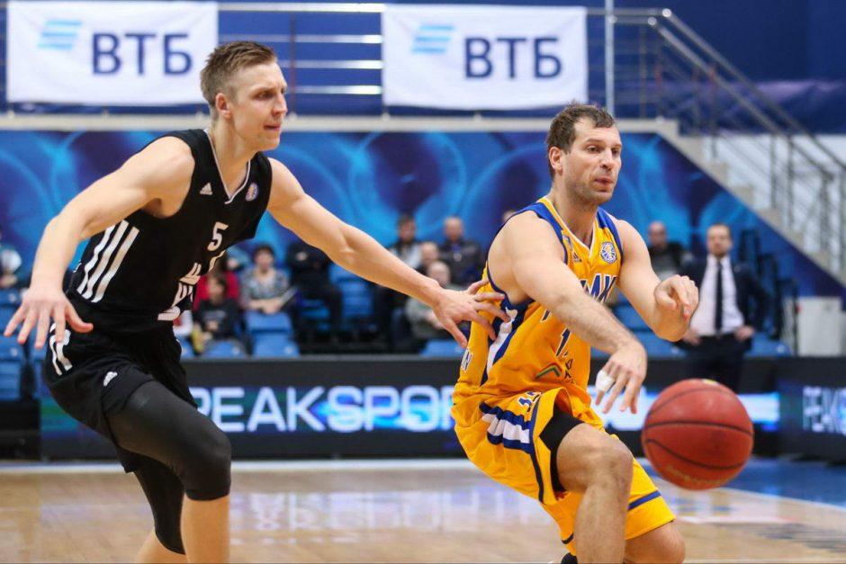 """Staigmena: A. Labucko komanda svečiuose įveikė """"Chimki"""" krepšininkus"""