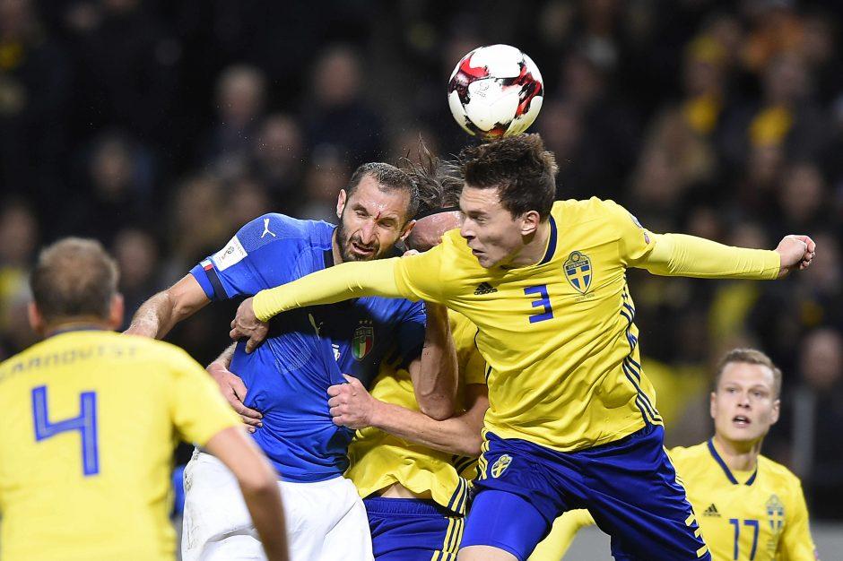 Švedija nugalėjo Italiją ir priartėjo prie pasaulio čempionato