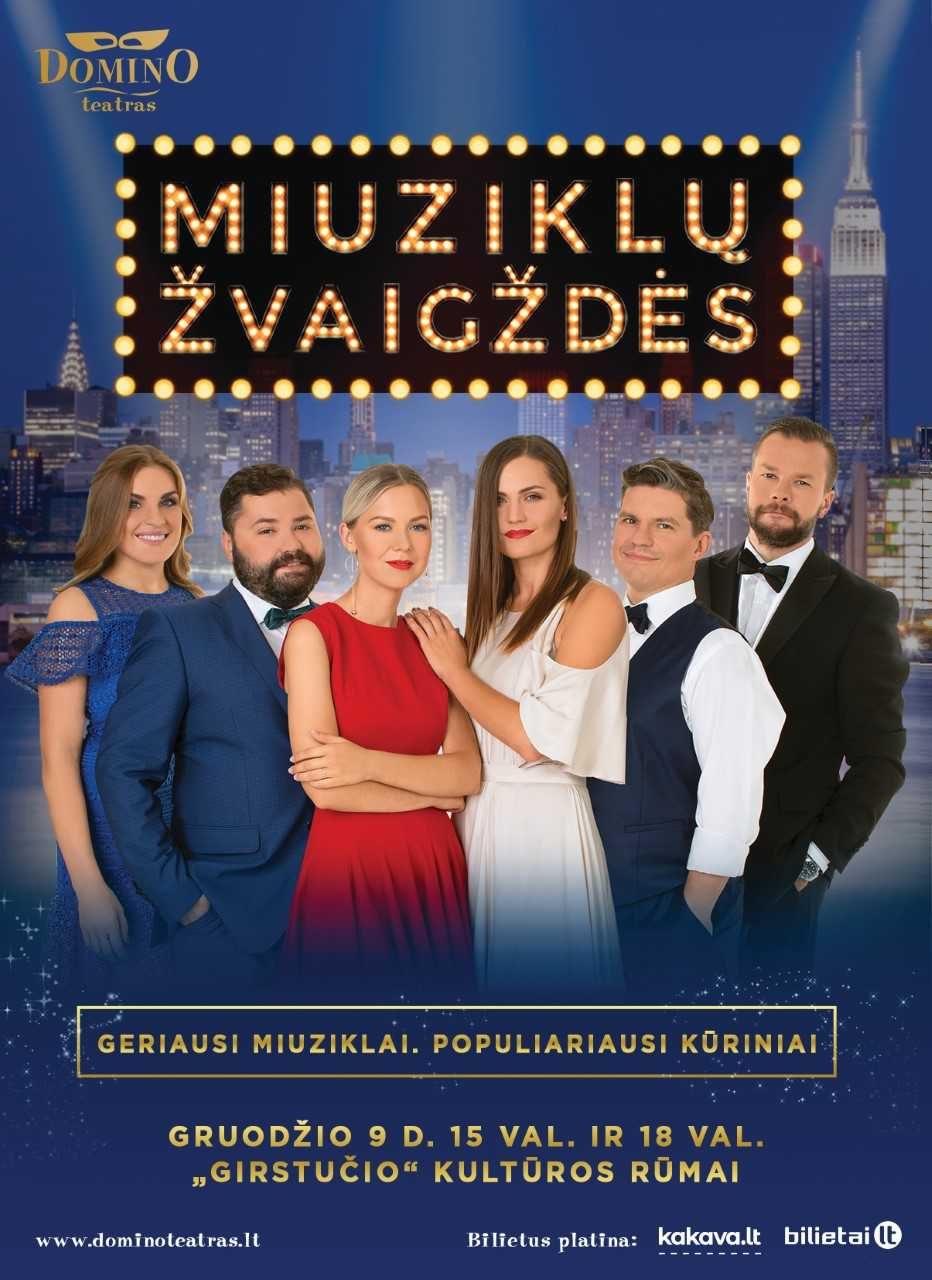 """""""Miuziklų žvaigždės"""" kviečia miuziklų gerbėjus į šventinį pasirodymą Kaune"""
