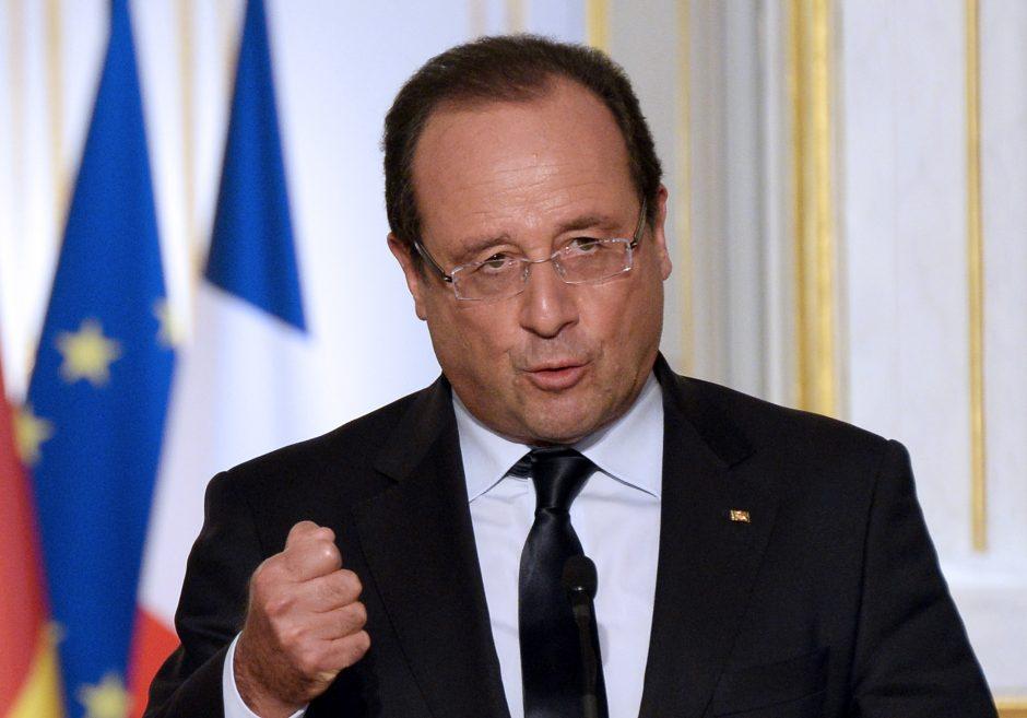 F. Hollande'as ragina Europą būti vieninga Sirijos krizės klausimu