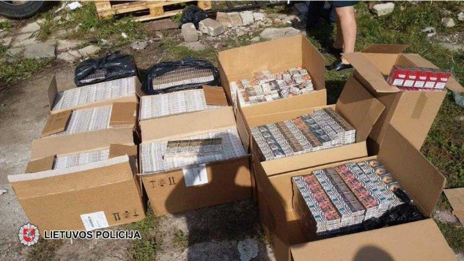 Klaipėdos centre – nelegali degalinė su kontrabandinėmis cigaretėmis
