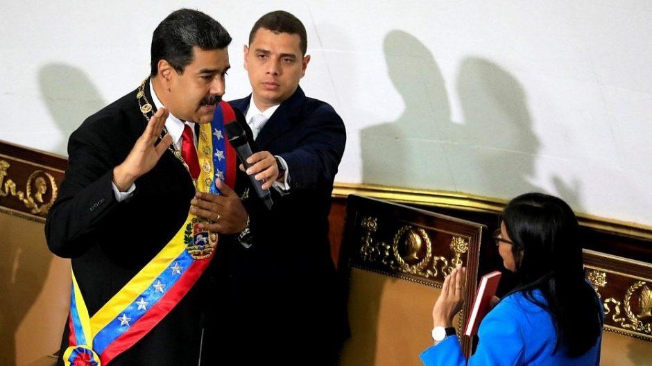 N. Maduro prisaikdintas antrai šešerių metų kadencijai Venesuelos prezidento poste