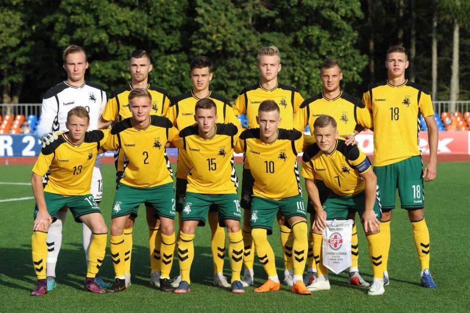 Lietuvos jaunimo futbolo rinktinė sužaidė lygiosiomis su gruzinais