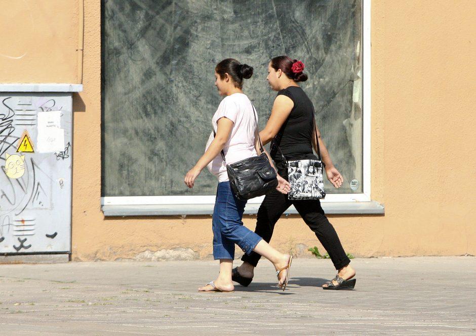 """""""Labdarą"""" renkantys romai apgaudinėja ir vilniečius"""