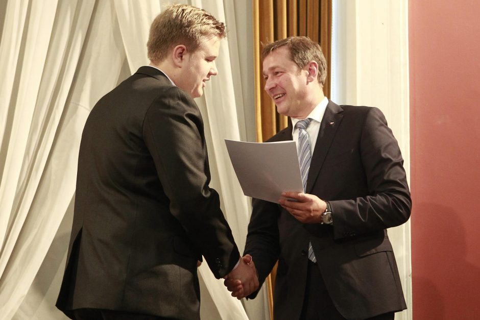 Vilniaus Rotušėje apdovanoti gabiausi moksleiviai